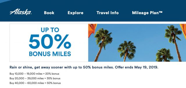 Alaska Mileage Plan Launches Best Sale of Alaska Miles We've Seen This Year