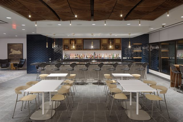 The Centurion Lounge bar at PHX